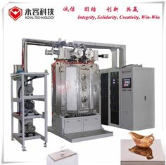 Vacuum Ion Plating Machine, PVD TiN Gold Plating Equipment, Glass amber coating, Glass candel holder coating Machine