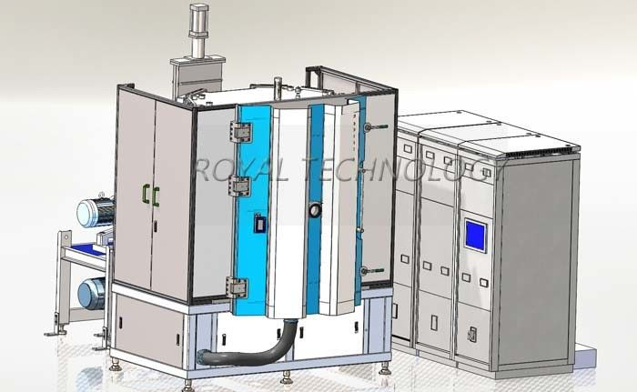 Silver / Nickel Vacuum Coating Machine ,  UM / UBM Sputtering System