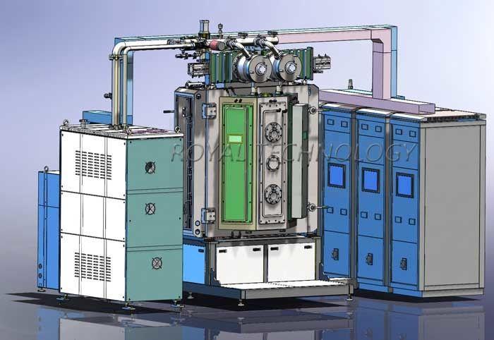 TiCN rose gold PVD Vacuum Coating Machine , CrC deep Black