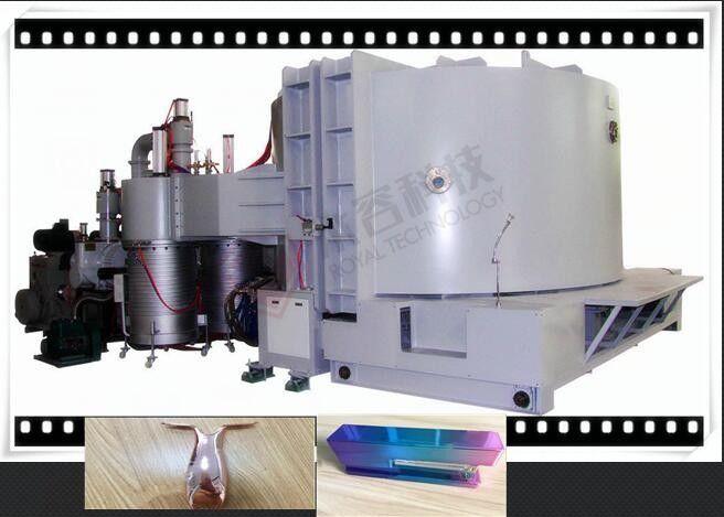 Acrylic Diamonds Vacuum Metalizing Machine , Cylinder Vacuum