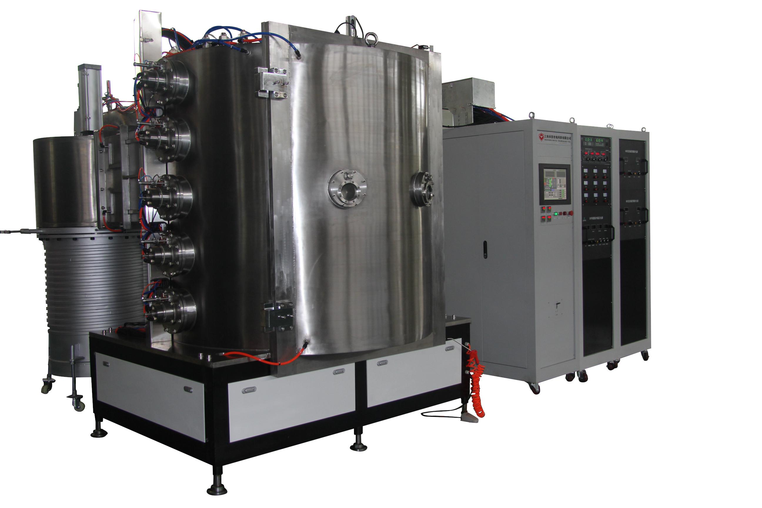 Acrylic Diamonds Vacuum Metalizing Machine , Cylinder