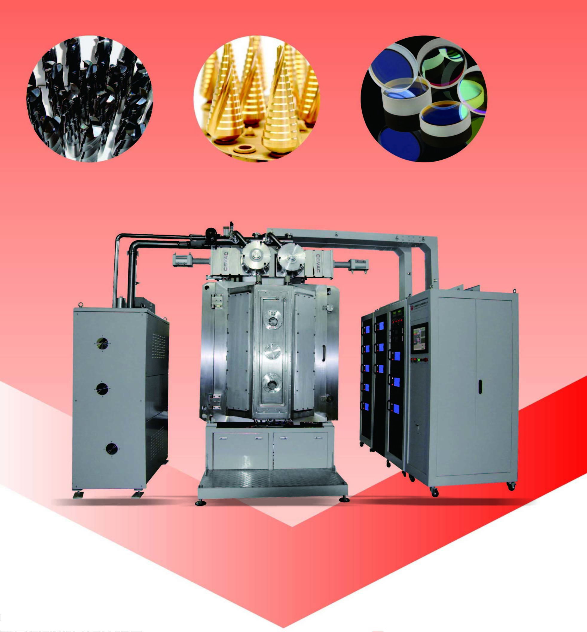 Zinc Alloy PVD Plating Machine, Brass Vacuum Plating